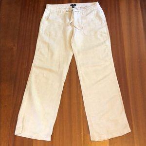 Gap Drawstring Wide Leg Pants Tan EUC